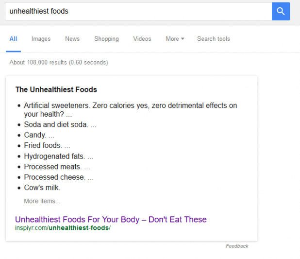 5 woodward unhealthiest foods