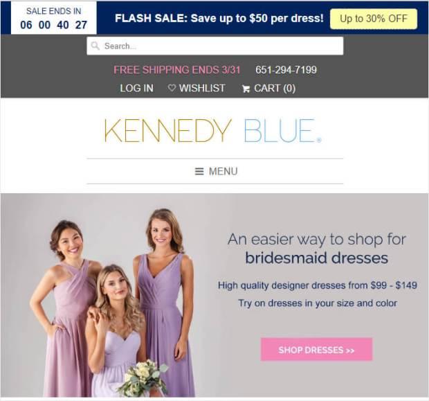 kennedy blue floating hello bar