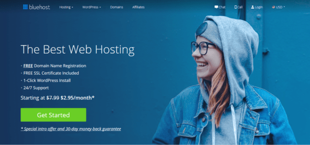 bluehost is always in our list of top hosting companies