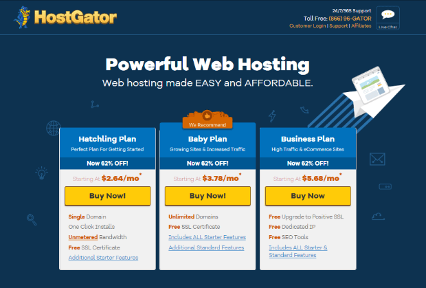 hostgator has great seo tools for ecommerce companies