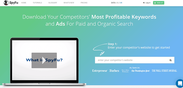 SpyFu Competitor analysis tools marketing