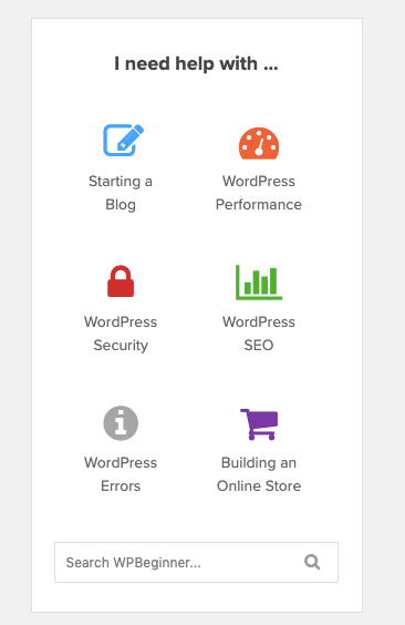 Hai bisogno di aiuto con WPBeginner_