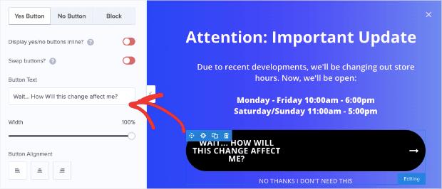 Button Text Change