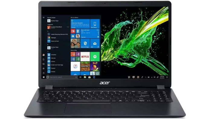 Analysis of the  Aspire 3 A315-56-33WN Noir – Core i3-1005G1 from Acer.
