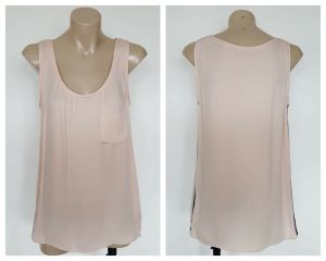 VERONIKA MAINE Ladies Coral Pastel Pocket Detail Sleeveless Top Size 8
