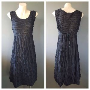 CARA ROSSI Womens Black Semi Sheer Sleeveless Dress Size Small S