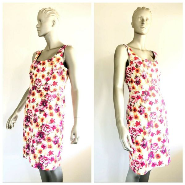 ALANNAH HILL Womens All Over Floral Print Sleeveless Dress Size 14