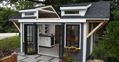 STUNNING DESIGN REVEALED IN CUSTOM HOME BUILDER  BATTLE OF THE SHEDS