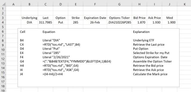 Export TOS to Excel