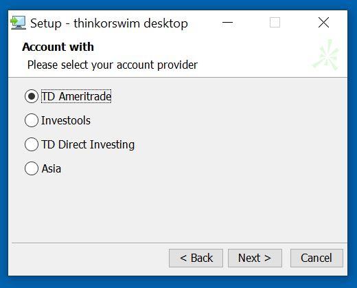 Installing ThinkorSwim