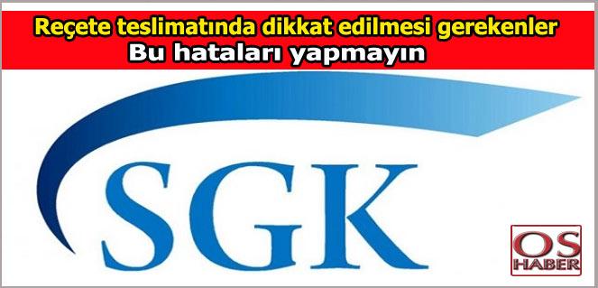 SGK Reçete tesliminde bu hataları yapmayın!