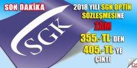 2018 SGK Sözleşme Bedeli