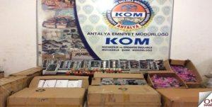 Antalya'da 275 Bin Lira Değerinde Kaçak Güneş Gözlüğü Ele Geçirildi