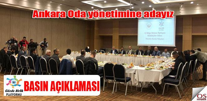 Yönetime aday gruptan basın açıklaması