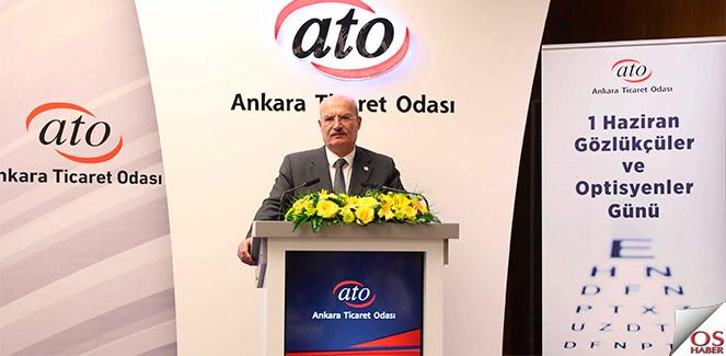 ATO Başkanı Baran, Gözlükçüleri kutladı