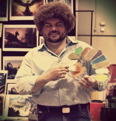 Optivion - bob ross cyborg