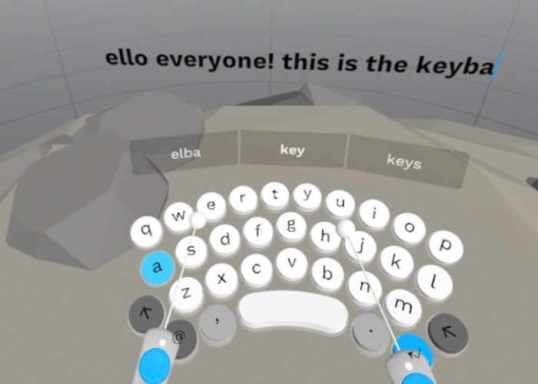 PunchKeyboard A Virtual Reality Keyboard With Easy and Fast Visual Typing