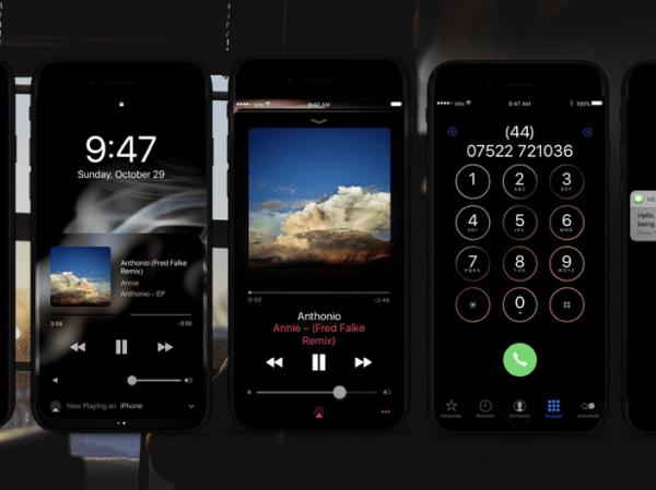 See iPhone Dark Mode 8 interface beautiful beyond imagination