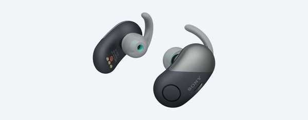 Sony WF-SP700N, wireless headphones, noise-free and water resistant