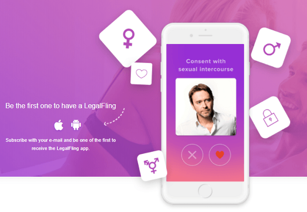 LEGALFLING, THE APP TO GIVE CONSENT BEFORE SEXUAL INTERCOURSE