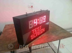 CLOCK LED MATRIX WIRELESS 03