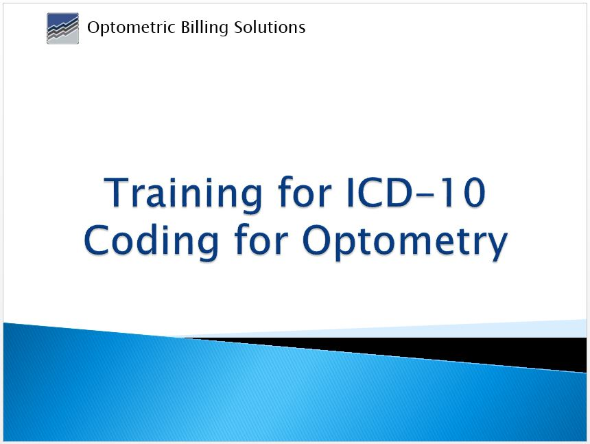 Icd 10 Training Video Optometric Billing Solutions