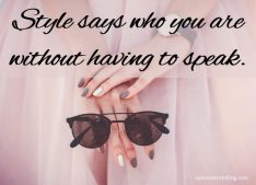 Style without speaking