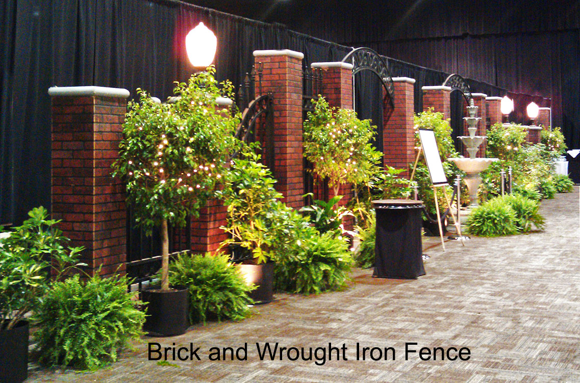 Red Brick And Wrought Iron