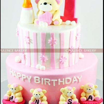 Teddy Bear Cakes For 1st Birthday