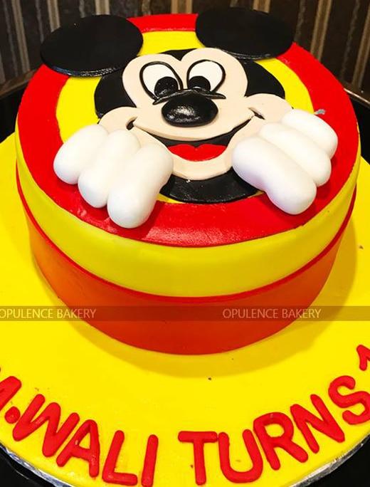 Mickey Mouse 3 Pounds Birthday Cake Opulence Bakery