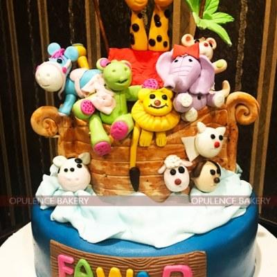Animal Themed Customised Cake
