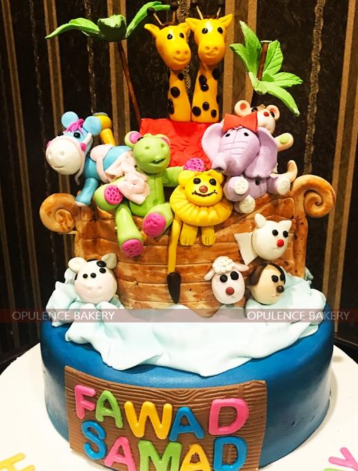Multiple Animals on Cake