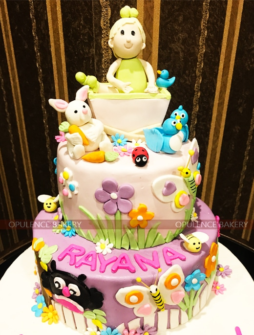 Animal Themed Birthday Cake For Girls Opulence Bakery