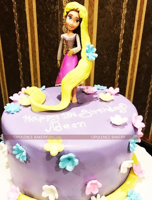 Rapunzel Fondant Cake in 2 Pounds