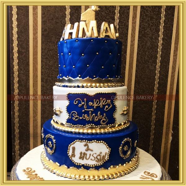 fondant cake for 1st birthday