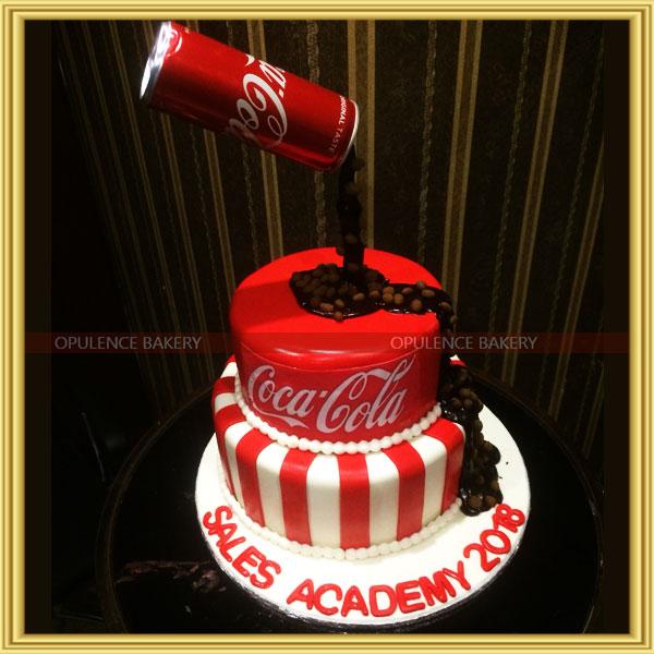 coca cola customized fondant cake