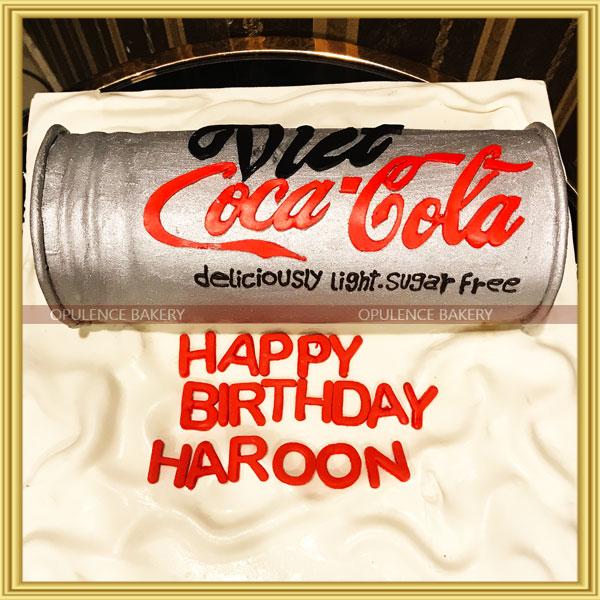 coca cola cake design