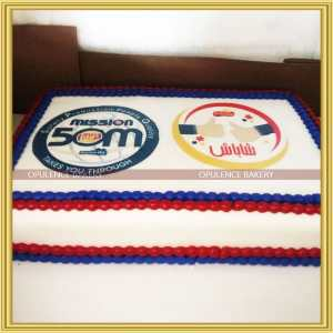 company anniversary Cream cake