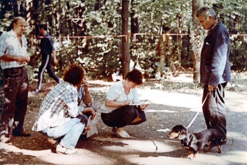 1989.07. БУЛАТ Маркова С. Т. на Всеукраинской выставке охотничьих собак в Киеве.