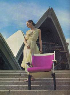 Media launch of the final design for the theatre seating, late 1971