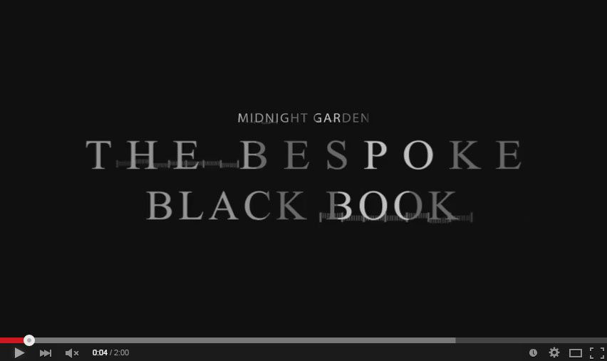 Bespoke Black Book – Midnight Garden