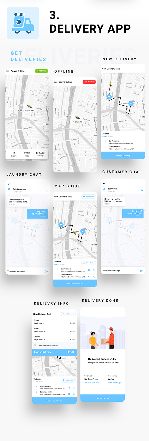 Multi Vendor Laundry Booking & Delivery App  Android + iOS App Template   3 Apps   IONIC 5   Anywash - 9
