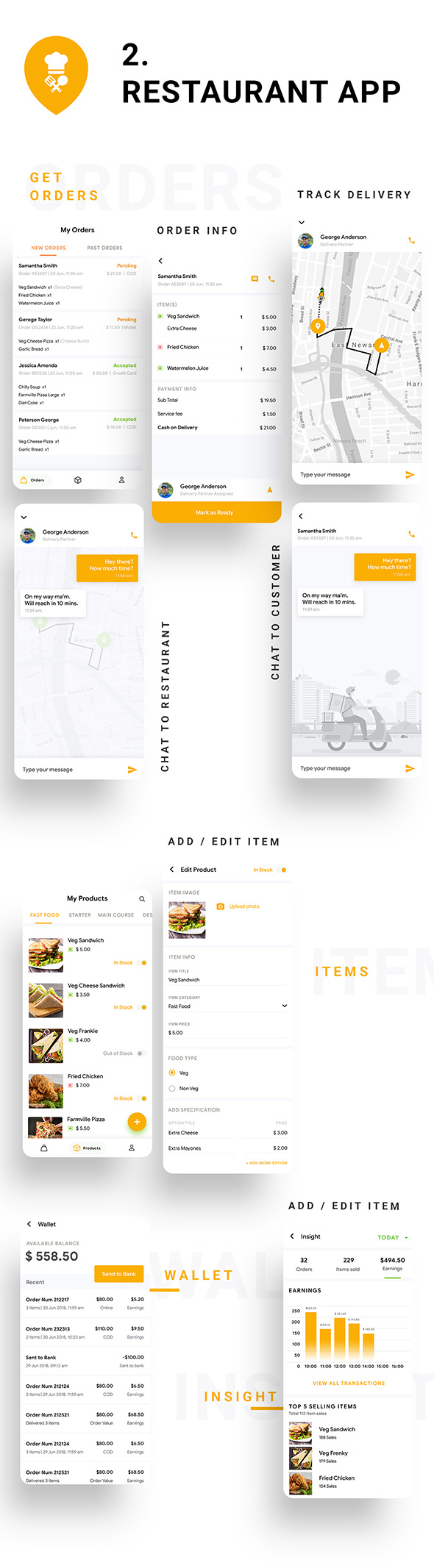 8 in 1 multi Restaurant Food Ordering App|Food Delivery App|Android+iOS App Template|Flutter Hungerz - 11