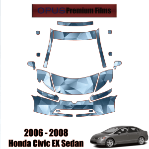 2006-2008 Honda Civic EX Sedan – Precut Paint Protection Kit (PPF) Partial Front