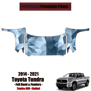 2014 – 2021 Toyota Tundra – Precut Paint Protection Kit (PPF) Full Hood + Fenders