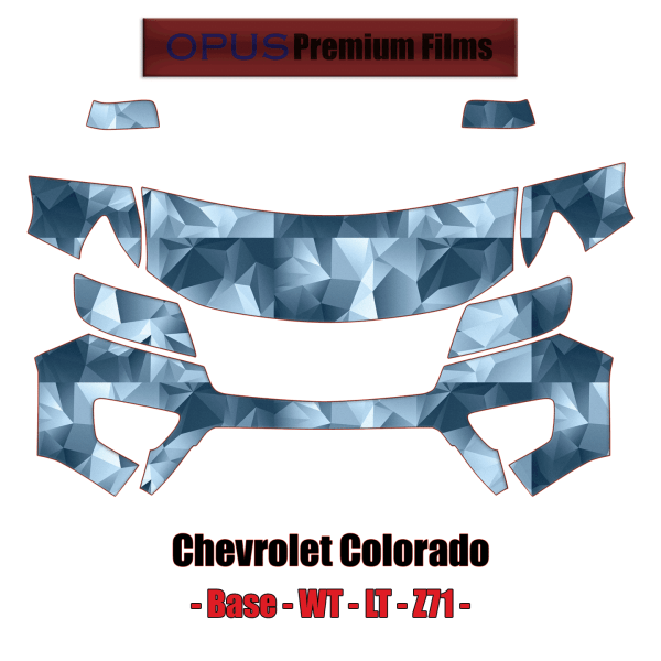 2015 – 2020 Chevrolet Colorado Base WT LT Z71 – Precut Paint Protection Kit (PPF) Partial Front