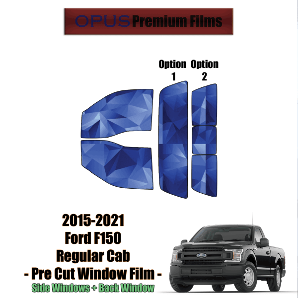 2015 – 2021 Ford F150 Regular Cab – Full Truck (PreCut Window Film)