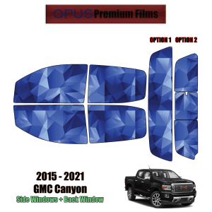 2015 – 2021 GMC Canyon Crew Cab – Full Truck Precut Window Tint Kit Automotive Window Film