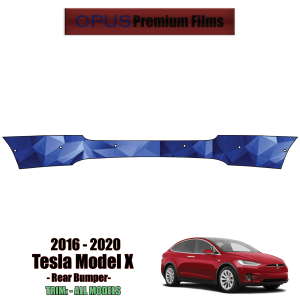 2016 – 2021 Tesla Model X – Precut Paint Protection Kit (PPF) Rear Bumper