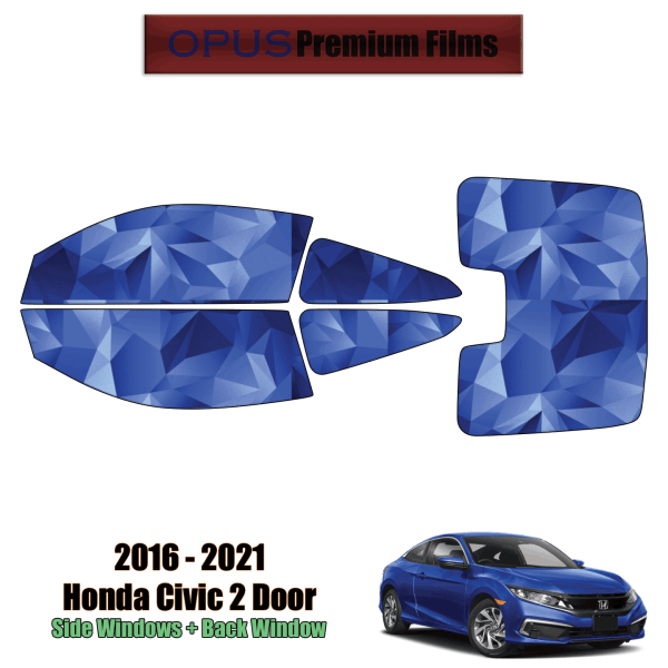 2016 – 2021 Honda Civic 2 Door – Full Coupe Precut Window Tint Kit Automotive Window Film